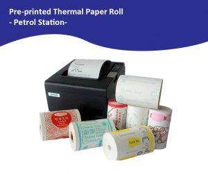Pre-Printed Standard Petrol Station Paper Roll