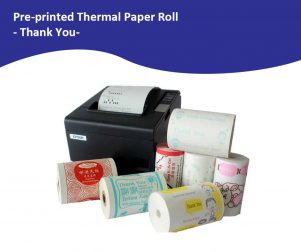 Pre-Printed Standard Thank You Paper Roll